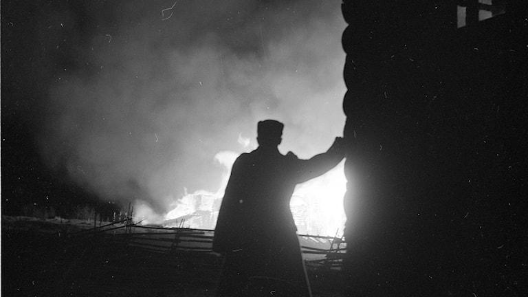 Tulipalo Pyhälahdella jatkosodan aikana, lokakuussa 1941.