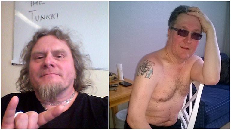 Kaksi Jari Korolaista: vasemmalla Hevi-Jari, oikealla Humppa-Jari.