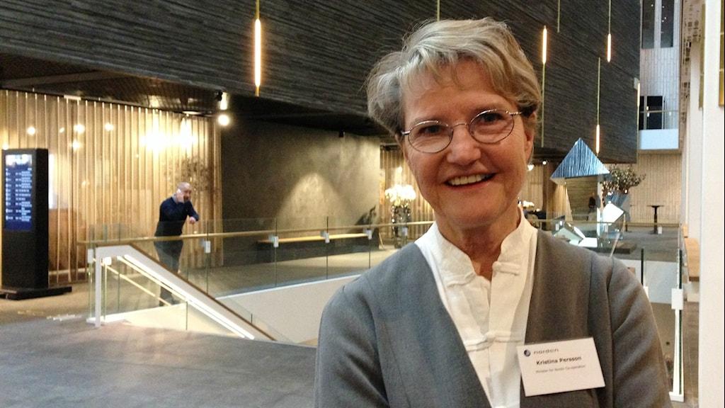 Ruotsin pohjoismainen ministeri Kristina Persson.