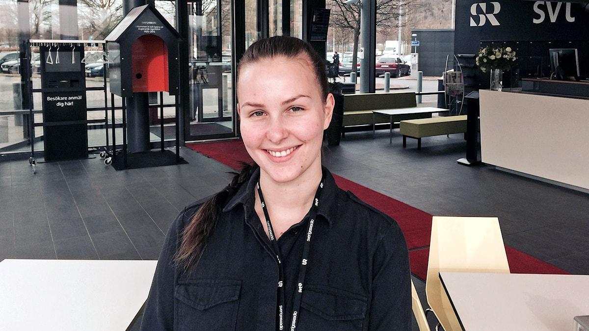 mediatuottajaksi Uumajassa opiskeleva göteborgilainen Henni Ewert.