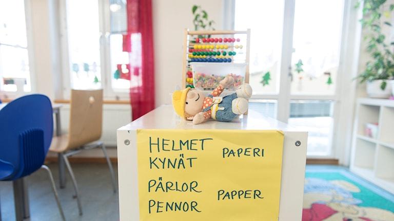 Sverigefinska förskolan Södertälje ruotsinsuomalainen esikoulu koulu