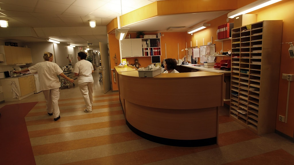 En reception på Norrtälje sjukhus