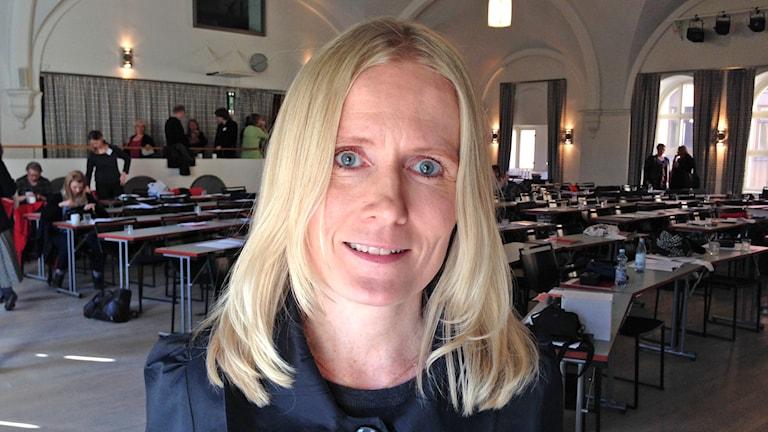 Sari Pesonen, Tukholman yliopiston suomen kielen adjunkti. Foto: Virpi Inkeri/SR