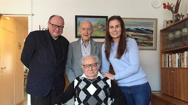 92-vuotias Jan-Erik Kjellberg ja 98-vuotias Bengt Jansson Uppsalassa.