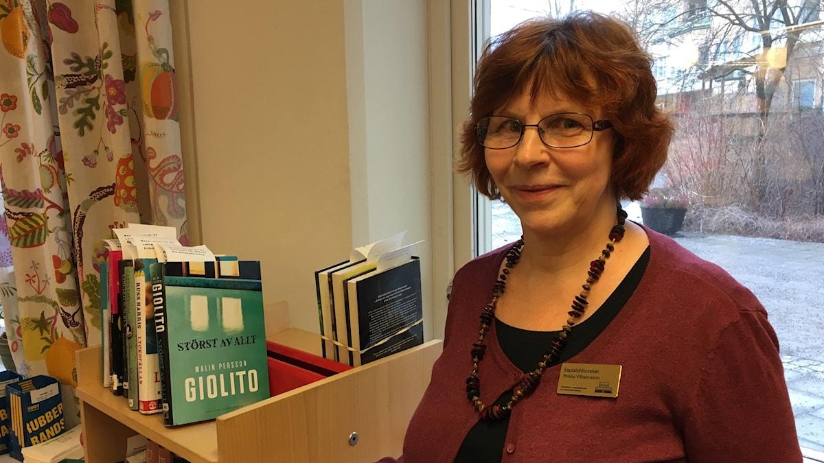 Kirjastonhoitaja Pirkko Vilhelmsson
