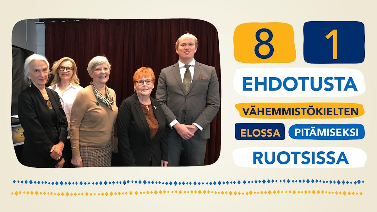 Kuva Ruotsinsuomalaisten valtuuskunnan puheenjohtajistosta.