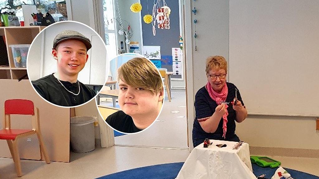 Samråd på en förskola i Luleå och i bilden syns även Harry Kviby och Viktor Svensson från Oxelösund, som deltagit vid ett annat samråd.