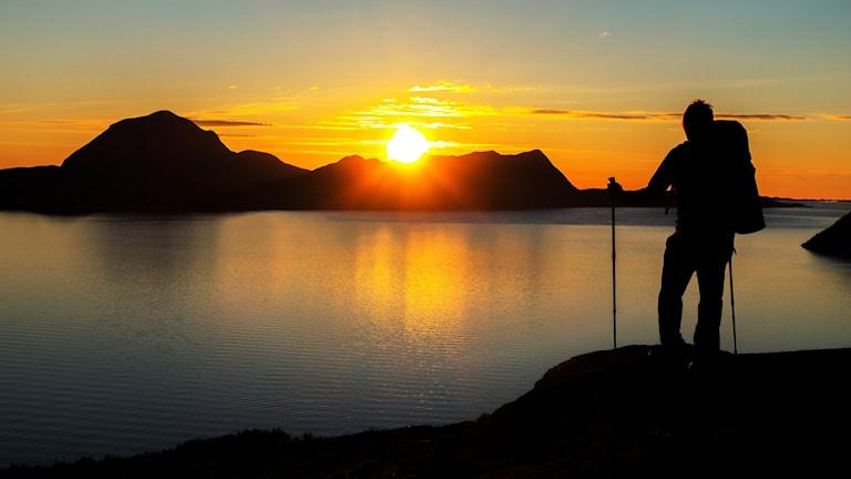 Vaeltaja Norjassa.