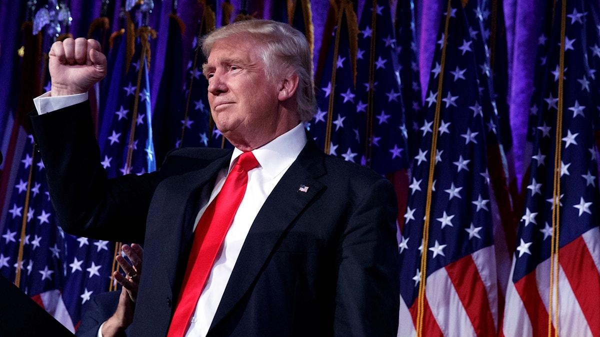 Donald Trump vaali-iltana New Yorkissa