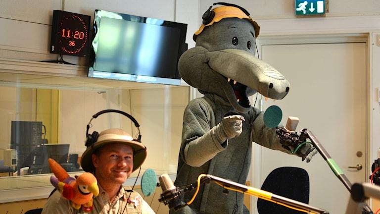 Macke Granberg ja Aarne Alligaattori Iltapäivän haastattelussa.