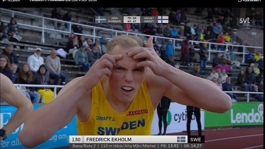 Fredrick Ekholm i Finnkampen.