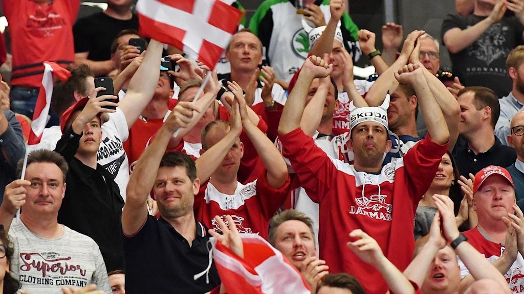 Danska hockeysupportrar