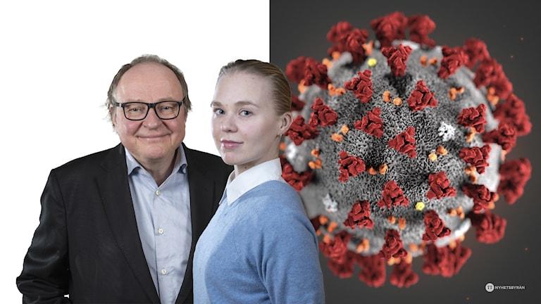 Mies, nainen ja koronavirus.