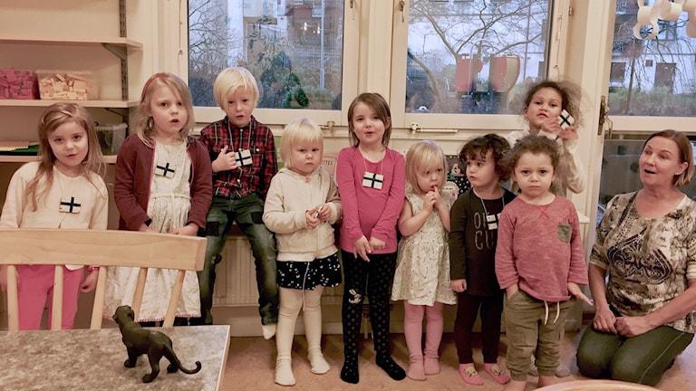 En grupp barn