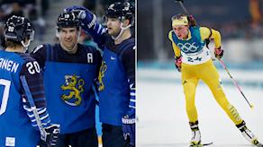 Finland ishockey team och Hanna Öberg