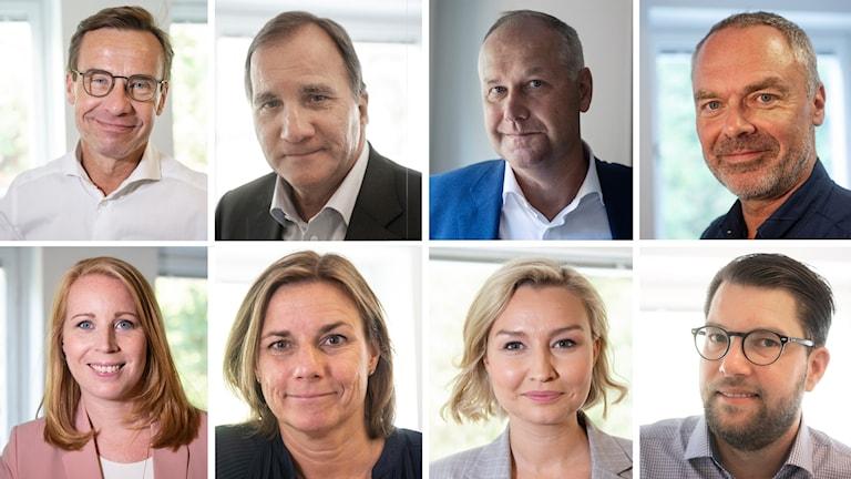 Partiledarna 2018, bildkollage