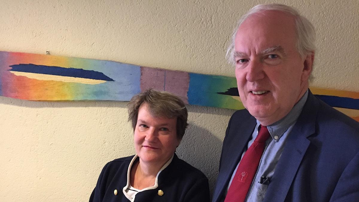 Ruotsin Viron suurlähettiläs Anders Ljunggren ja hänen vaimonsa Barbro Allardt