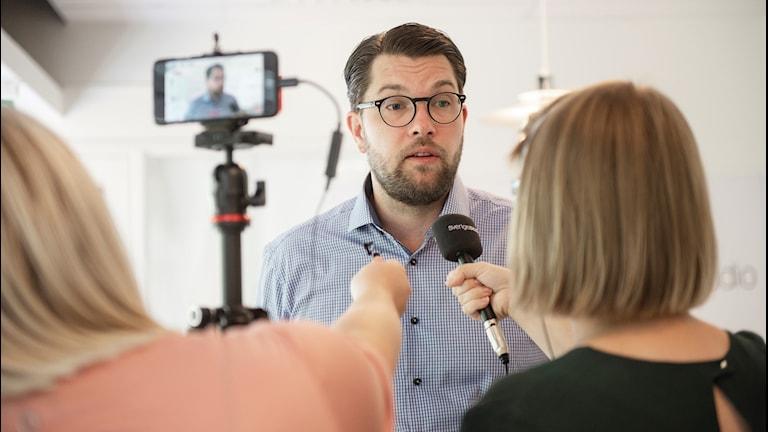 Sverigedemokraternas partiledare Jimmie Åkesson