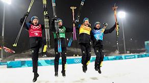 Ruotsin kultajoukkue vei selkeän voiton Norjasta ampumahiihdossa.