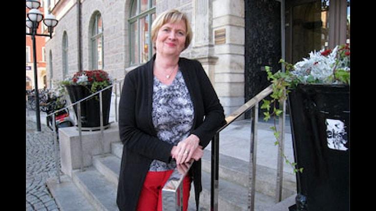 Sirpa Lindelöf, Eskilstunan kunnan suunnittelija FOTO: Evelina Crabb, SR Sörmland