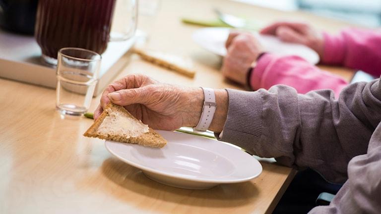 Matsal på ett äldreboende
