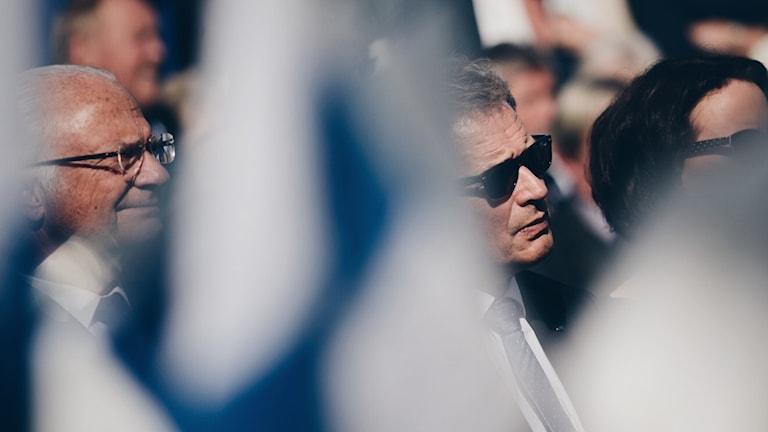 Kung Carl XVI Gustaf och president Sauli Niinistö