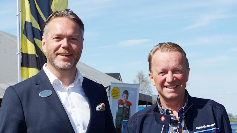 Tommy Abrahamsson med Erkki Hanhirova från Toranda Events