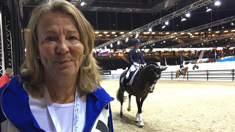 Helena Höglund, vapaaehtoinen työntekijä Sweden International Horse Show