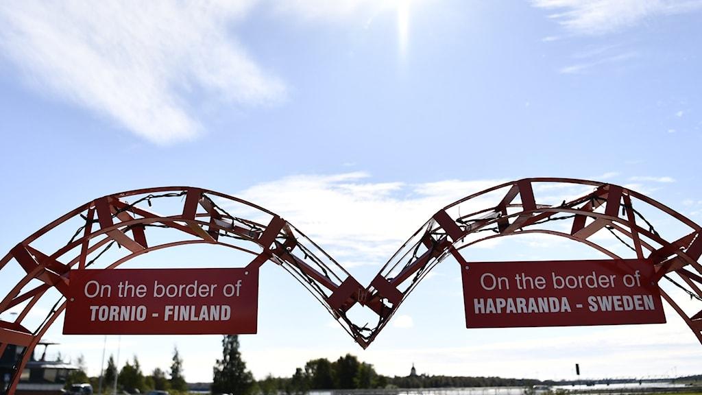 Rajakyltti Tornion ja Haaparannan välillä.