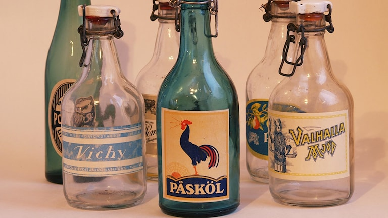 Gamla läskflaskor
