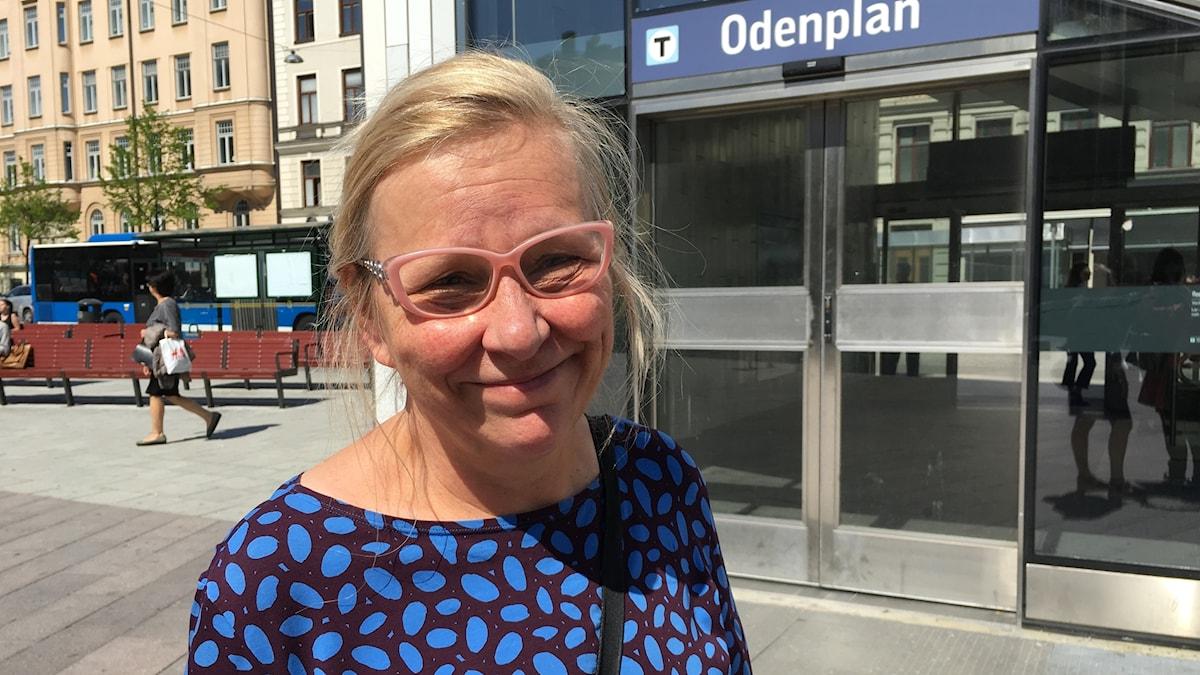 Mari Rantanen on tehnyt taidetoksen Citybanan uudelle asemalle