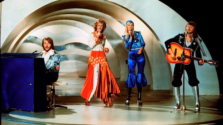 Abba Euroviisulavalla 1974.