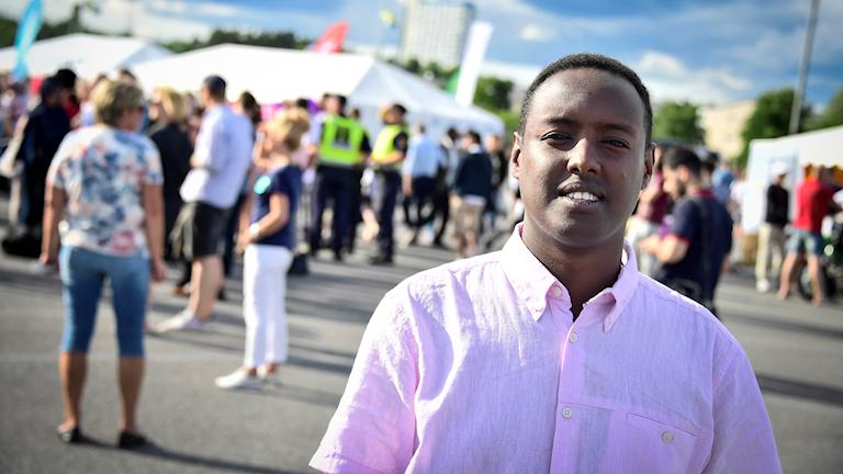 Järvaveckanin perustaja Ahmed Abdirahman.
