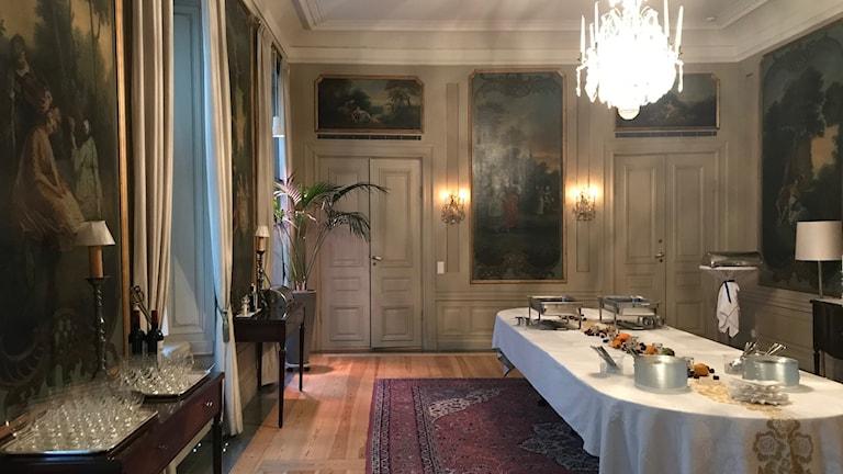 Suomen suurlähettilään residenssi Tukholmassa.