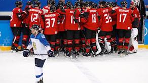 Kanada juhlii voittoa Suomesta