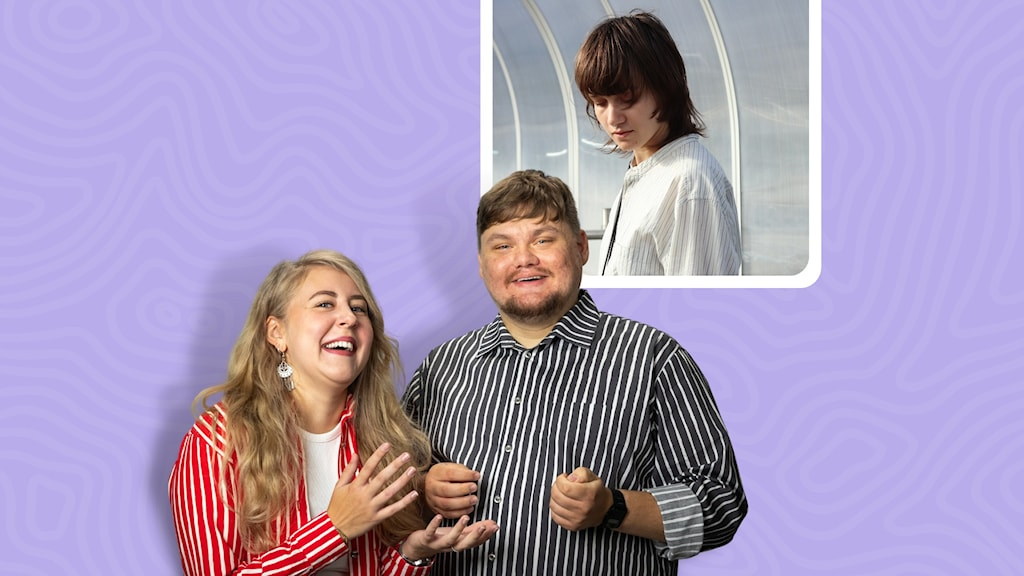 Populas programledare Sanna Laakso & Kalle Kinnunen tillsammans med kvällens gäst Hilma Kekkonen Orell