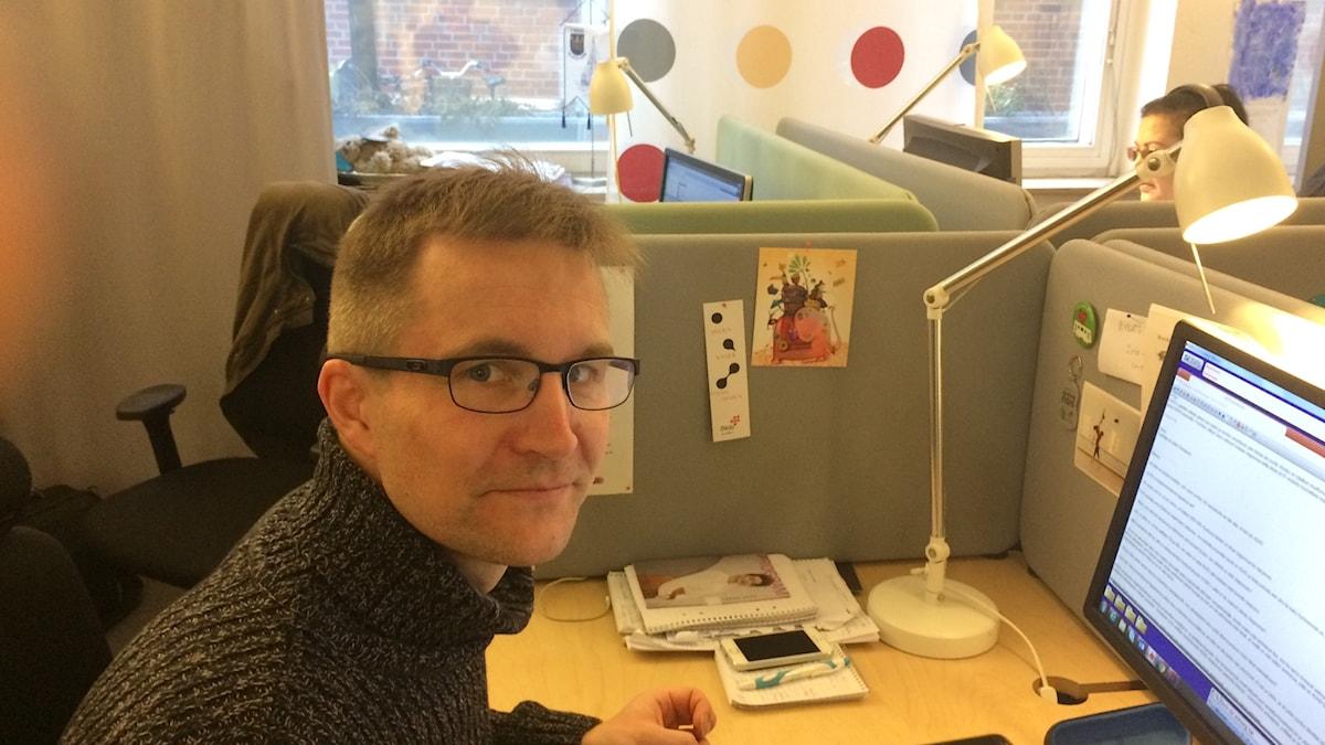 Jukka Painilainen viimeistä päivää töissä Malmössä