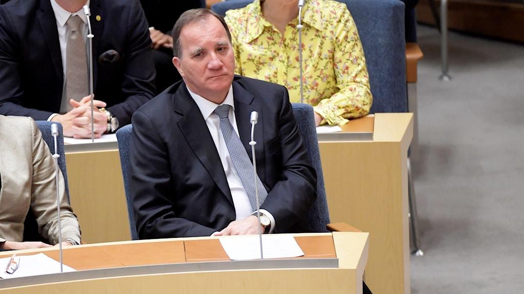 Stefan Löfven valtiopäivien pääministeriäänestyksessä