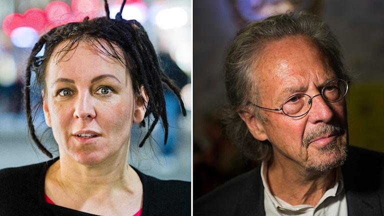 Den polska författaren Olga Tokarczuk och den österrikiske författaren Peter Handke får nobelprisen i litteratur 2018 och 2019.