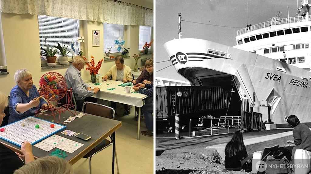 Pensionärsbingo och Finlandsfärja.