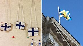 Finska flaggor och Göteborgs flagga