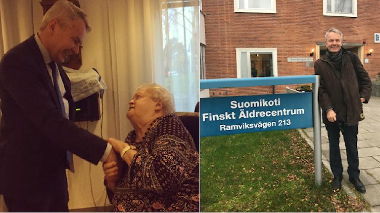 Pekka Haavisto tapasi Suomikodin asukkaita.
