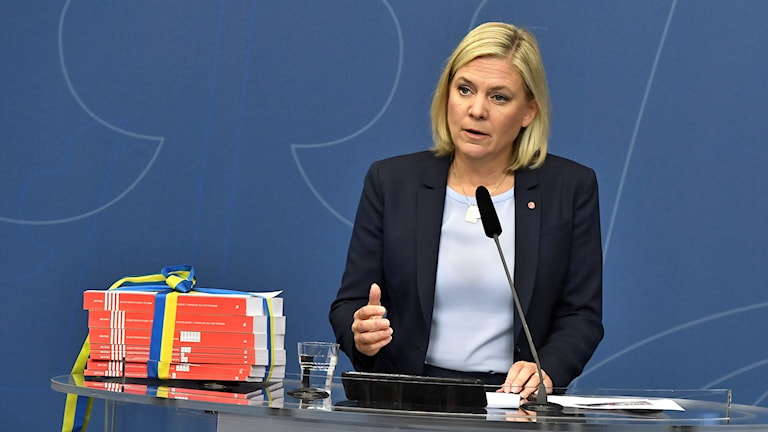 Finanssiministeri Magdalena Andersson.
