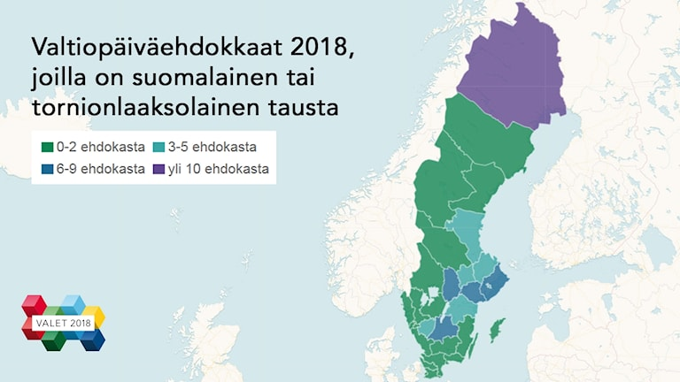 Kartta Valtiopaivaehdokkaat Joilla On Suomalainen Tai