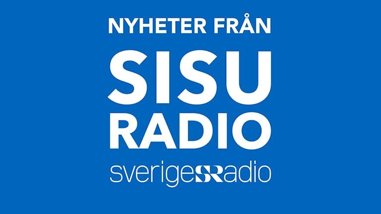 Nyheter från Sisuradio - logo - vit text med blå bakgrund