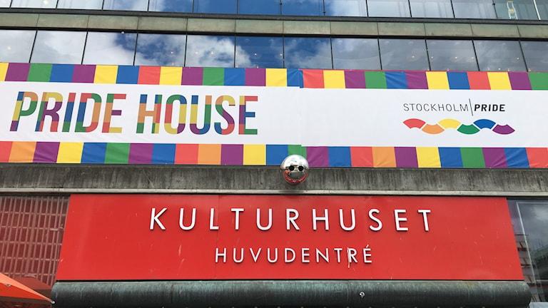 Pride House Tukholman Kulttuuritalolla.