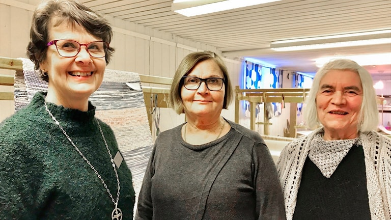 Marja Peju, Eila Carlsson ja Mirjam Pilhjerta.