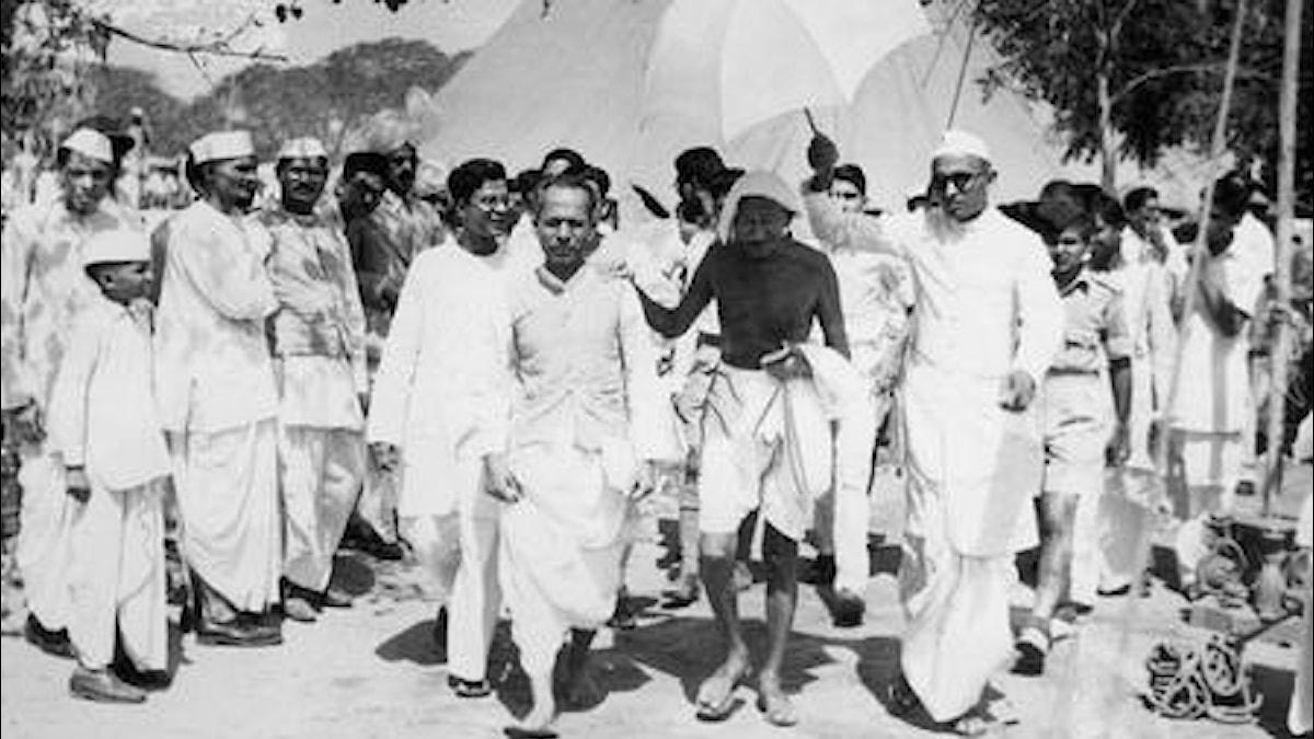 Gandhi ennen Intian itsenäistymistä