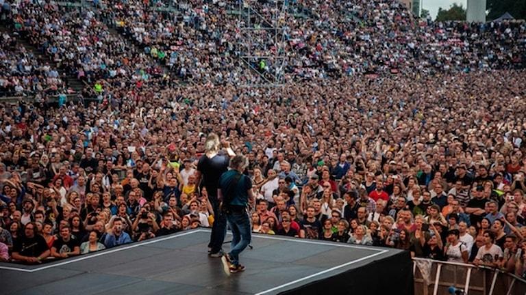 Eppu Normaalin 40-vuotisjuhlakonsertti Ratinan stadionilla Tampereellä elokuussa 2016.