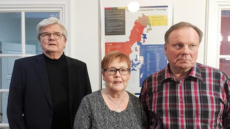 Voitto Visuri, Sinikka Lindquist, Bengt Niska